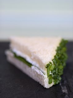 Goat Cheese and Chive Tea Sandwiches