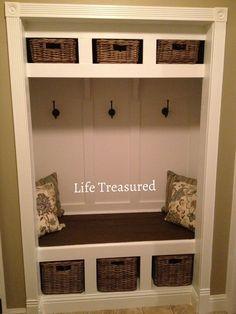 turn closet into a mudroom