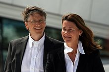 """...As of 2007, Bill and Melinda Gates were the second-most generous philanthropists in America, having given over 28 billion to charity. They plan to eventually give 95% of their wealth to charity."""