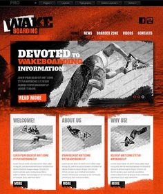 Wakeboarding Website Template