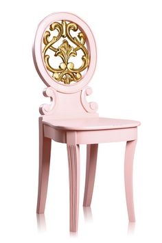 daphne chair. in cotton candy color. =)
