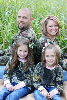 Love our Family Pic in Camo! Thanks K  & T Photography! Wonderful job!!!!