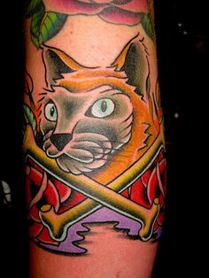 kitty1 by Myke Chambers Tattoos, via Flickr