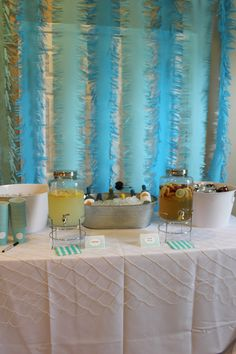 Mermaid party drink table
