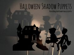 Looking for a new and easy way to entertain your children this Halloween? We've got the answer - Halloween Shadow Puppets - a Printable!