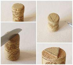 Wine cork stamp