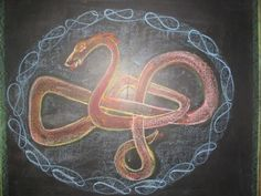 Waldorf ~ 4th grade ~ Form Drawing ~ Braided Serpent