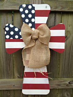 Custom Flag Wooden Cross Door Hanger by SweetSophieJacks on Etsy