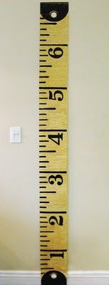 Vintage Measuring Tape Growth Chart