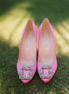 Hot pink Manolos.