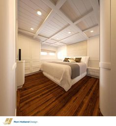 Basement bedroom design inspired by boat stateroom