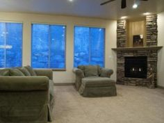 turning the garage into a big family room with windows & a fireplace.