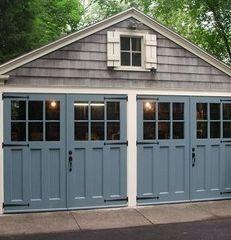 Carriage Doors for outdoor bar room