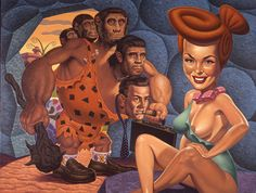 Painting by Todd Schorr