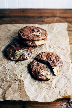 chocolate and dulce de leche caramel swirl cookies