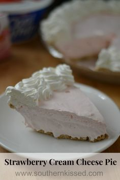 Strawberry Cream Cheese Pie - There is also a recipe for a Mocha Pudding Pie.