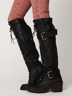 Jeffrey Campbell lace up boots.    ... Because there is no such thing as enough shoes ...