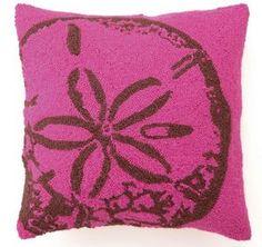 Fuschia Pink Sand Dollar Pillow
