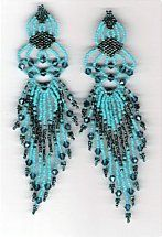 Beaded Filigree Earrings pattern by Charlotte Holley - Beaded Legends by Chalaedra at Bead-Patterns.com