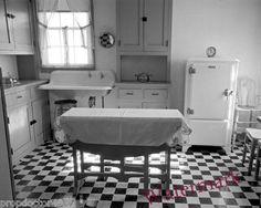 Vintage Image 1938 Home Kitchen Westmoreland Pennsylvania 8x10