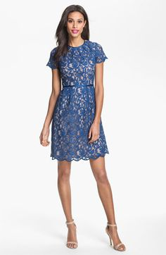 Adrianna Papell Scalloped Lace Dress available at #Nordstrom