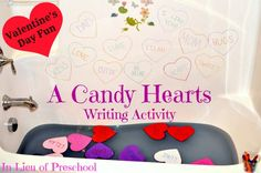 reading, writing, matching, and FUN for kids on Valentines Day!!