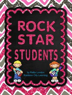 Catch 'em being good! Here's a simple yet meaningful reward system with a rockin' theme sure to get the attention of your students this year! This resource includes cards to reward eight ways to be a Rock Star student every day in class.   Students collect the cards, and can win a VIP invitation to an award celebration.$