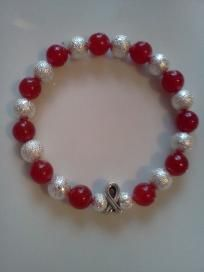 Heart Disease Red Awareness Red Jade Stretch Bracelet Heart Disease Awareness $14.50