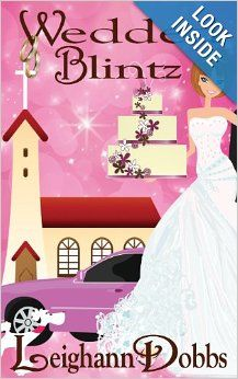 Wedded Blintz (Lexy Baker Bakery Cozy Mysteries) by Leighann Dobbs.  Cover image from amazon.com.  Click the cover image to check out or request the mystery kindle.