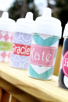 Little Girl's Personalized Monogrammed Sippy Cup - Toddler Cup - Baby Cup - Juice Cup - Baby Shower Gift Birthday Present on Etsy, $16.00