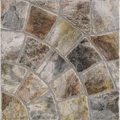 FLOORS 2000�12-Pack 13-in x 13-in Old World Rnd Mix Glazed Porcelain Floor Tile inside the shower maybe??? or kitchen
