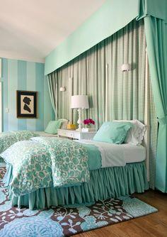twin bedroom | Tobi Fairley Interior Design