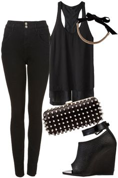How to wear all black and look chic, not goth - great outfits!