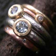 Topaz, Sapphire & Diamond Rings