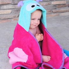 DIY Butterfly hooded towel for baby Connect link with more hooded towels.