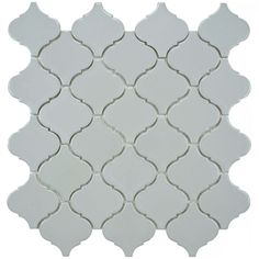 SomerTile 12.5x12.5-inch Morocco Glossy Grey Porcelain Mosaic Tiles (Set of 10) | Overstock.com