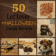 50 Leftover Halloween Candy Recipes #holiday #recipe #candy