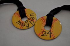Softball washer necklace- love it!