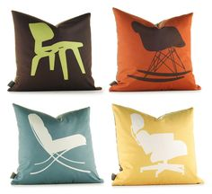 Modern furniture pillows