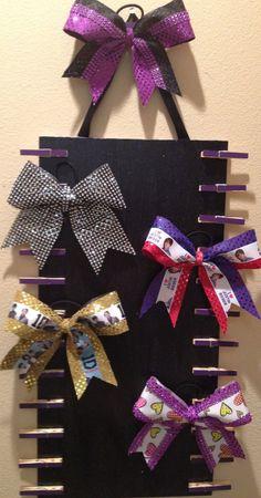 softball ribbons, cheer bow storage, danc bow, bow ribbon, ribbon board