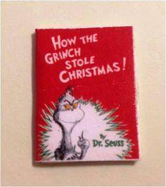 Miniature Christmas Book for Your Dollhouse  by VintageVonRetro, $4.00