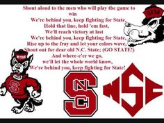 North Carolina State Wolfpack Fight Song