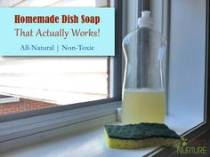 Homemade Natural Dish Soap That Actually Works! - Nature's Nurture homemade soaps, dish washing soap, dishwasher detergent, essential oils, homemad natur, natur dish, castile soap, dishsoap, homemade natural dish soap