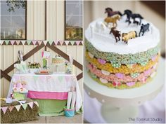 Love this horse theme cake and decor. Birthday inspiration for my horse loving girl.