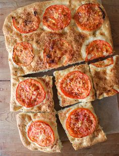 Tomato Parmesan Focaccia