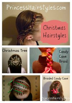 Christmas hairstyles gotta try these styles on my grands!