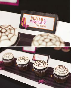 death-by-chocolate-spider-web-cupcakes