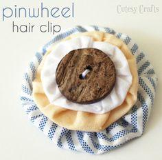 Cutesy Crafts: Pinwheel Hair Clip Tutorial