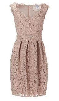 lace taupe dress