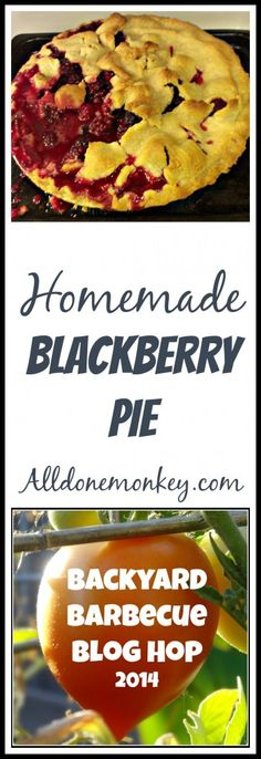 Homemade Blackberry Pie Recipe {Backyard Barbecue Blog Hop} - All Done Monkey